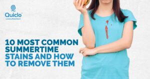 Most Common Summer Stains and How to Remove Them